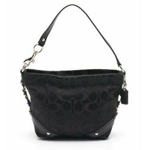 COACH Carly Signature Small Hobo Bag